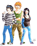 Comic project, main characters by ArsenicsamA