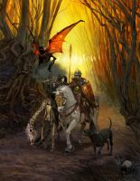 Knight, Death, and the Devil by AaronMiller