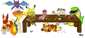 Pokemon Cookie Assembly Line