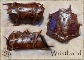 Leather wristband 14-0 by Eternal-designs-com