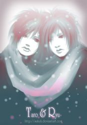Twins under the snow - to Yuki by Sakuli