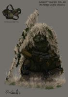 Sniper double amputee. by DESTRAUDO