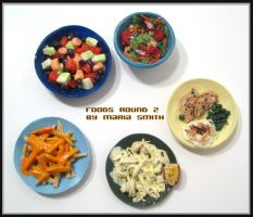Tiny Polymer Clay Food Round 2 by chat-noir