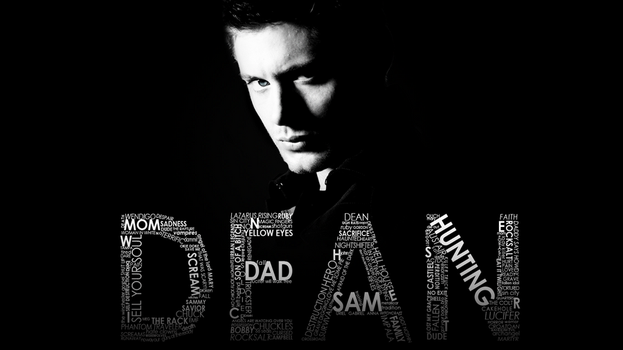 dean winchester typography by SavingMel