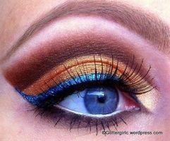 Copper with a pop of blue! :) by GlitterGirlC