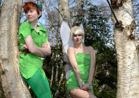 Disney - Peter and tink by FlyingGreyson