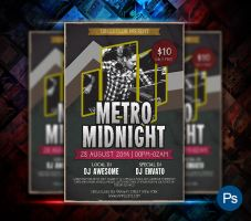 Metro Party Flyer by afizs