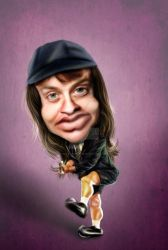Angus Young Caricatura Purple Depth by Stanley-ontheroad
