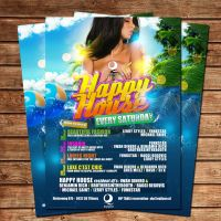 HAPPY HOUSE FLYER PARTY POSTER by Adriano09