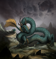 Serpentine Dragon by crazylunagirl