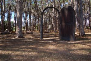 Door Way to the Forest Stock by Storms-Stock
