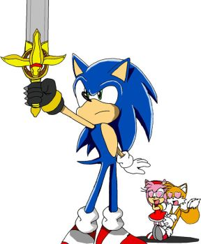 Sonic and his new sword by ss2sonic