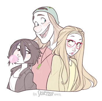 Gogo, Fred, and Honey by Skirtzzz