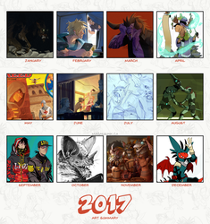 2017 Art Summary by weremagnus