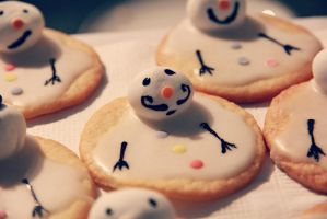Melted Snowman Cookies  by janey89