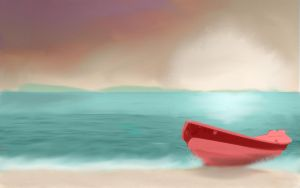 Boat on The Beach by DemonaTheOperator