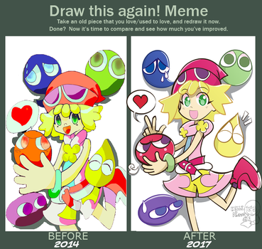 Draw this again Meme -Puyo Amitie- by Kell0x