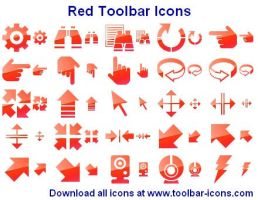 Red Toolbar Icon Set by shockvideoee