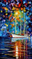 Blue Sky by Leonid Afremov by Leonidafremov