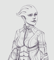 Liara T'Soni: Bust Commission Example by Raijin-Pooch