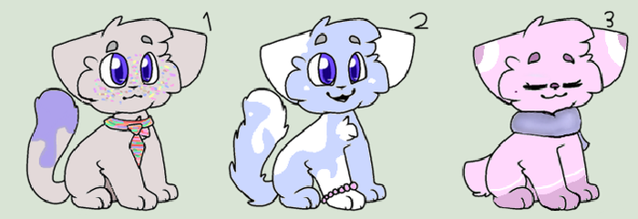 OPEN : Themed Cat Adopts 1/3 1 LEFT by Violeta-Adopts