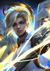 OVERWATCH MERCY by GothicQ