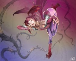 Lilith from Dark Stalkers by yagatama