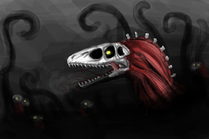 Zombie Dinosaur of Darkness by DaSaurian