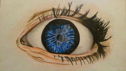 Colored Pencils Eye by Evanescentgreen