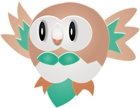 [COLOR] Rowlet by IceeDaHedgehog