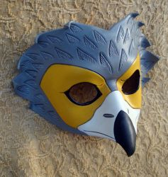 African Harrier Leather Mask by merimask