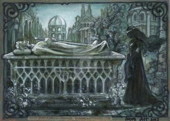 At Aragorn's tomb by BohemianWeasel