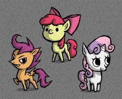 WW cutie mark crusaders by AWildDrawfagAppears