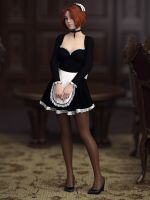The Busy Maid by Pigmillion
