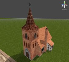 Train Driver 2 Models - Small Church 01 by Jakhajay