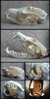 Carved Fox Skull by CabinetCuriosities