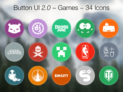 Button UI 2.0 ~ Games by BlackVariant