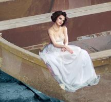 The Tiny Lady in a Boat by MissRazen