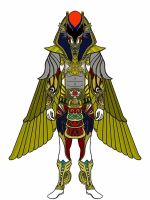 UPDATED Ancient Age Red Ranger-Amun Ra Battlizer by Eddmspy