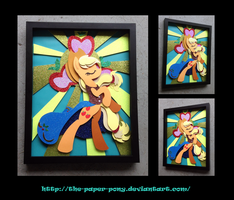 Stained Glass Applejack Shadowbox by The-Paper-Pony
