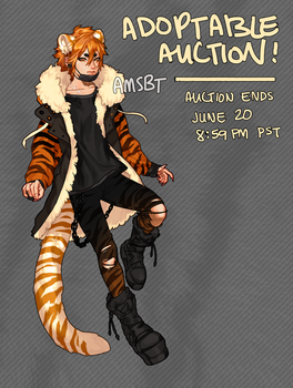 [CLOSED] Street Tiger - ADOPTABLE AUCTION by AMSBT