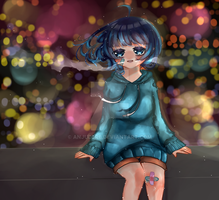  Gift  Shinning Town by AnjuDere