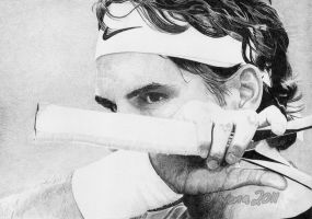 Roger Federer by electrichyena