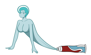 Toothpaste Woman by DB-Palette