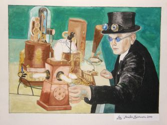 Horatius Steam and some of his inventions by Amalias-dream