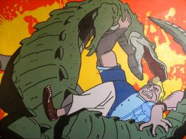 Brock and the Croc by lifeinacemetery