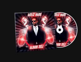 Red Mixtape CD Cover Free PSD Template by KlarensM