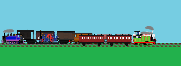 Tank Engines At Work by Confused-Man