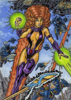 Starfire - Sketch Card by tonyperna