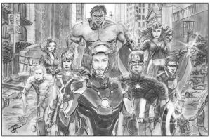 Avengers AOU in Fan Favorite Costumes by IronWarrior777